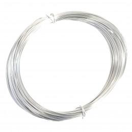 Lot de 10 mètres de fil d'aluminium rigide couleur argenté 1mm largeur