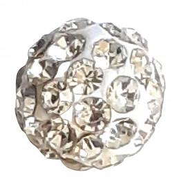 Lot de 5 boules disco strass rondes 8mm couleur cristal à facettes pavé