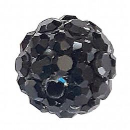 Lot de 5 boules disco strass rondes 8mm couleur noir jet à facettes pavé