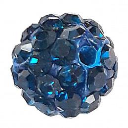 Lot de 5 boules disco strass rondes 8mm couleur bleu fonçé montana à facettes pavé