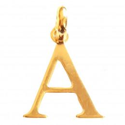 Pendentif Initiale simple lettre A en plaqué or
