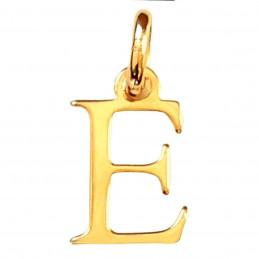Pendentif Initiale simple lettre E en plaqué or
