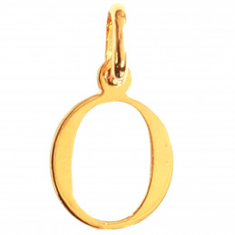 Pendentif Initiale simple lettre O en plaqué or