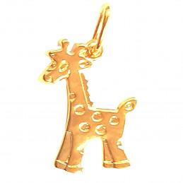 Pendentif enfant fille bébé Girafe en plaqué or + chaîne