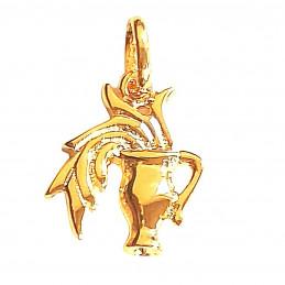 Pendentif Signe Astrologique zodiaque Verseau en plaqué or + chaine