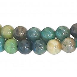 Fil de 46 perles rondes 8mm 8 mm en chrysocolle naturelle