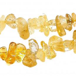Fil de chips perles en Citrine  - fil de 38cm