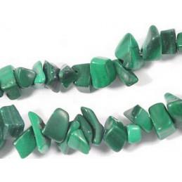 Fil de chips perles en Malachite naturelle - fil de 90cm
