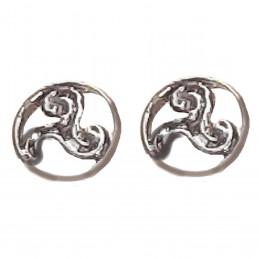 Boucles d'oreilles Triskell Croix Celtique en argent 925°/00