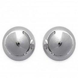 Boucles d'oreilles classique perle boule en argent 925°/00 6 mm diam