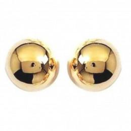 Boucles d'oreilles classique perle boule en plaqué or 6 mm