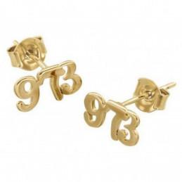 Boucles d'oreilles 973 97-3 97 - 3 Guyane française en plaqué or