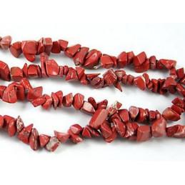 Fil de chips perles en jaspe rouge - fil de 90cm NEUF