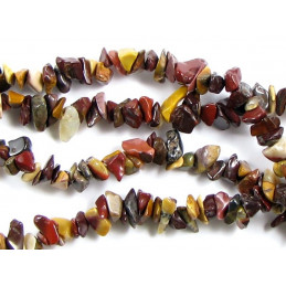 Fil de chips perles en jaspe mokaite - fil de 90cm NEUF