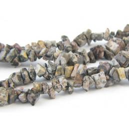 Fil de chips perles en jaspe léopard - fil de 90cm