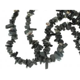 Fil de Chips perles en Onyx Noir - fil de 90cm
