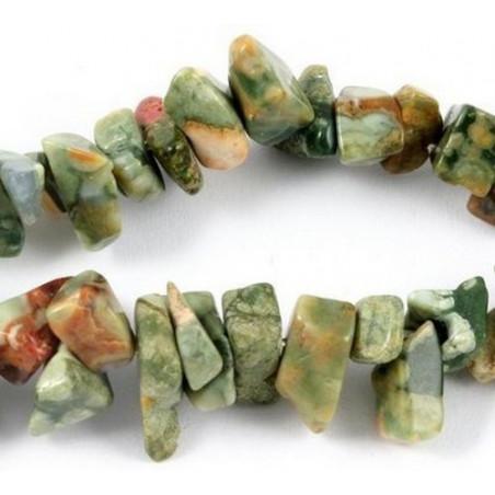 Fil de chips perles en Unakite épidote verte - fil de 90cm