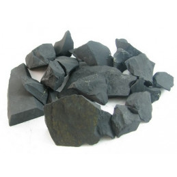 Lot de 400 gr de shungite chungite noire pierres brutes minéraux