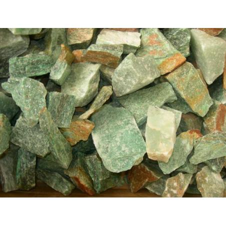 Lot de 400 grammes d'aventurine verte du brésil pierres brutes