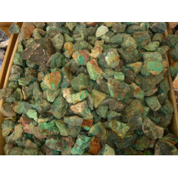 Lot de 300 grammes de Chrysocolle des USA pierres brutes
