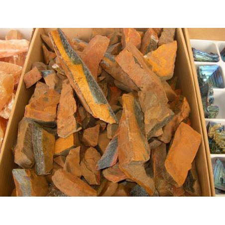 Lot de 100 grammes d'Oeil de Tigre marron d'Afrique pierres brutes