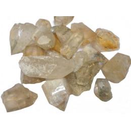 Lot de 400 grammes de cristal de roche brut du Brésil pierres brutes