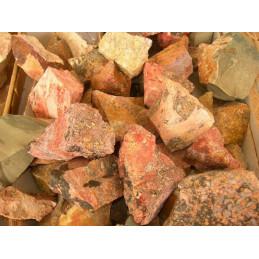 Lot de 400 grammes de Jaspe Léopard du Mexique pierres brutes