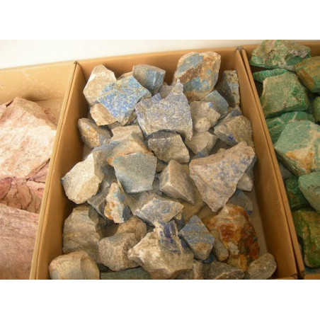 Lot de 200 grammes de lapis lazulis lazuli bleu pierres brutes