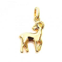 Pendentif Signe Astrologique zodiaque Bélier en plaqué or + chaîne