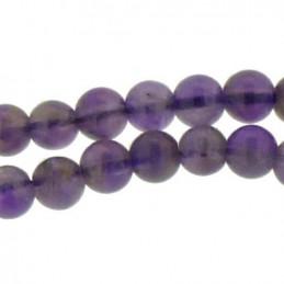 Fil de 95 perles rondes 4mm 4 mm en Améthyste
