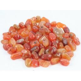 Lot de 200 grammes de Pierres roulées en Cornaline agate agathe rouge