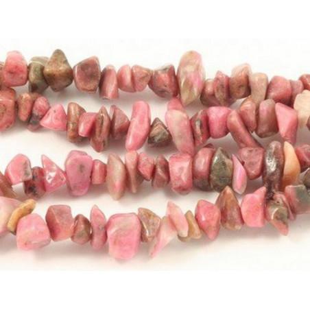 Fil de chips perles en Rhodonite rodonite rose - fil de 90cm