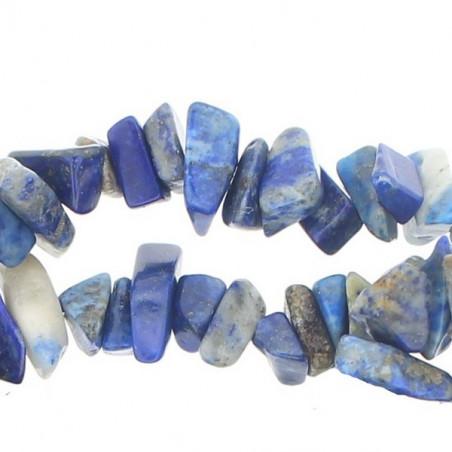 Fil de chips perles en Lapis Lazuli lazulis naturel - fil de 90cm