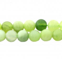 Fil de 46 perles rondes 8mm 8 mm en Jade naturel vert clair