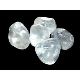 2 X Pierres roulées en cristal de roche naturel