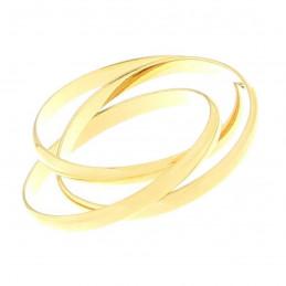 Bague alliance triple anneaux homme femme en plaqué or