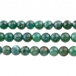 Fil de 56 perles rondes 7mm 7 mm en céladonite naturelle