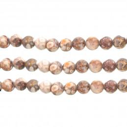 Fil de 60 perles rondes 6mm 6 mm en maifan stone pierre médicale