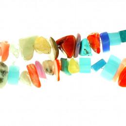 Fil de chips perles en mélange de pierres fines - fil de 90cm