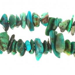 Fil de chips perles en Azurite chrysocolle -Fil de 39cm