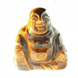 Grosse Statuette bouddha en oeil de tigre 6,5cm de haut 125gr