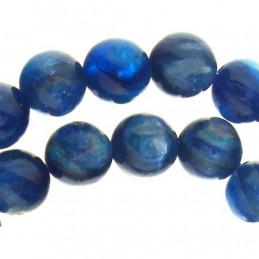 Fil de 80 perles rondes 5mm 5 mm en kyanite cyanite disthène bleue