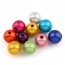 Lot de 200 perles miracles magiques 4mm 4 mm - mix mélange de couleurs