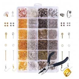 Enorme box d'apprêts fermoirs attaches anneaux clous poussettes, multicolore