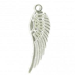 Lot de 10 breloques argentées ailes d'ange 3cm