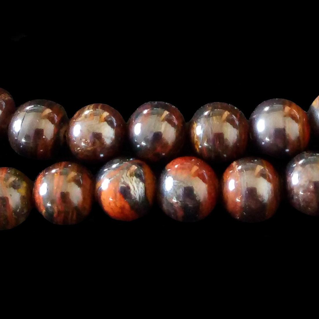Bracelet de perles rondes en jaspe unakite faisant de la pierre précieuse