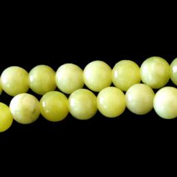 Fil de 58 perles rondes 6mm 6 mm en péridot vert