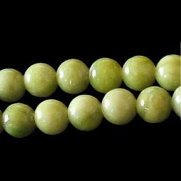 Fil de 46 perles rondes 8mm 8 mm en péridot vert