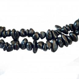 Fil de chips perles en spinelle noire - fil de 80cm NEUF