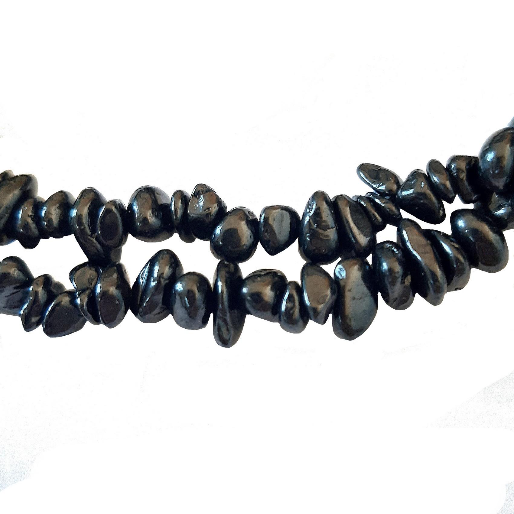 Fil 39cm 100pc env Onyx noir Rocailles Chips Batonnets 12-2 Perles de Pierre